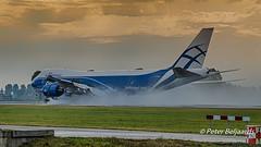 VQ-BLQ  Boeing 747-8HVF - AirBridgeCargo (Peter Beljaards) Tags: boeing747 boeig747800 vqblq airbridgecargo 18r polderbaan ams eham cargoplane freighter airplane aircraft wet