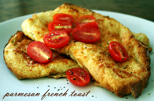 Pistachio: savoury parmesan french toast