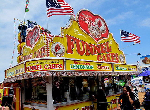 Funnel Cakes are a must.