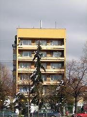 . .   . 109  2007 . Geo Milev housing estate block 109 Sofia Bulgaria (Balkanton) Tags: building nature car architecture square concrete post modernism communist communism flats bulgaria socialist block socialism