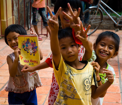 Children in Chau Doc, Vietnam