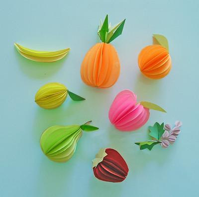 Paper Fruits - paper sculptures