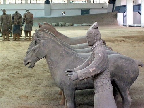 Charioteer and horses