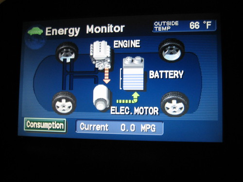 Prius Energy Monitor display