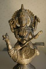 Saraswati statue (jepoirrier) Tags: music india statue bronze swan arts goddess creativecommons knowledge hindu saraswati devi sarasvati veena