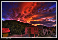 On fire ( Pere Soler) Tags: red sky topf25 clouds photoshop fire volcano explore 1020mm hdr volcan castellfollitdelaroca castellfollit supershot allrightsreserved abigfave anawesomeshot diamondclassphotographer flickrdiamond ysplix braid44 colourartaward theperfectphotographer top20vivid peresoler