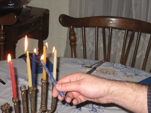 lighting the menorah 4