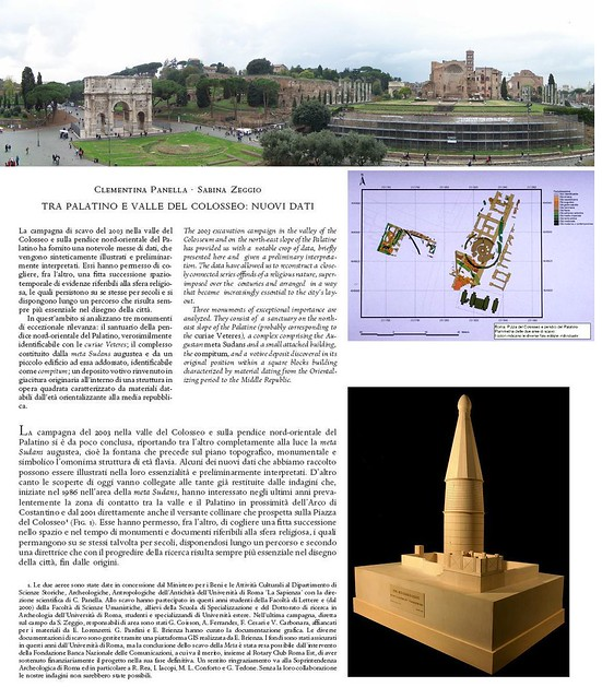 ROME  ARCHAEOLOGICAL INVESTIGATIONS AND DISCOVERIES THE META SUDANS THE NE SLOPE OF THE PALATINE HILL THE DOMUS OF AUGUSTUS THE SCEPTOR OF EMPEROR MAXENTIUS AND THE SANCTUARY OF KING NUMAS POMPILIUS (2002-2007) by Martin G Conde