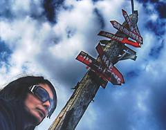 Finger-post Fruska Gora 2 (Branne) Tags: blue sky girl heaven pointer serbia signpost index novisad hdr cursor gora clue indicator srbija nebo fruskagora fingerpost clew fruska photomatix putokaz singlejpghdr popovica novosadani raskrsnica raskrsce