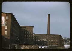 Factory buildings in Lowell, Mass. (LOC)