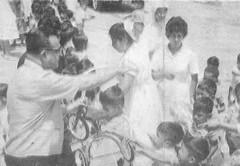 Guido monteverde en campaña por los niños pobres