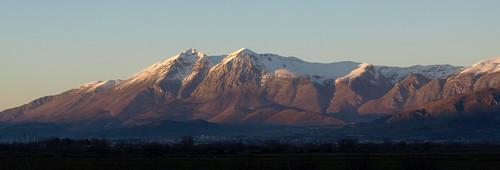 Monte Velino al calar del sole...
