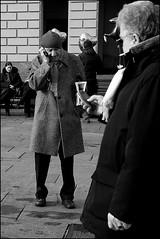 Torino 0086 (malko59) Tags: street people urban blackandwhite italy torino italia cellulare mobilephone turin biancoenero italians decisivemoment bwemotions italybw diecicento malko59 marcopetrino