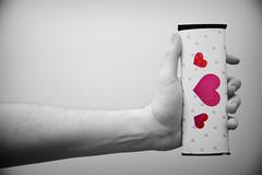 "Day 30/365 ""Edible Love"" (Hunter Wilson) Tags: red portrait blackandwhite bw color love bar self hearts hand candy arm artistic chocolate nolan joy creative eat wilson hunter 365 2008 edible wellstone 365days hunterwilson"