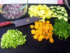 veglasagna03 (commonculinarian) Tags: food carrots zucchini celery greenpepper miseenplace redonion sqash