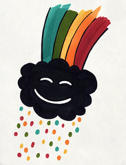 2.10.08 - Cloud Filter (invisibleElement) Tags: cloud color rain happy sketch rainbow marker sharpie invisibleelement sketchaday