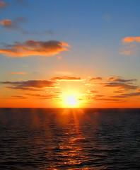 Sunrise (Adventures of KM&G-Morris) Tags: travel vacation sun holiday seascape sunrise blueskies glorytogod sonshine goldenglow andtherewaslight anawesomeshot diamondclassphotographer flickrdiamond smilinatme