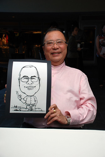 Caricature Christopher Tan 60th birtyhday party 2
