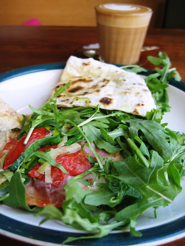Ham & rocket piadina @Piadina Slowfood