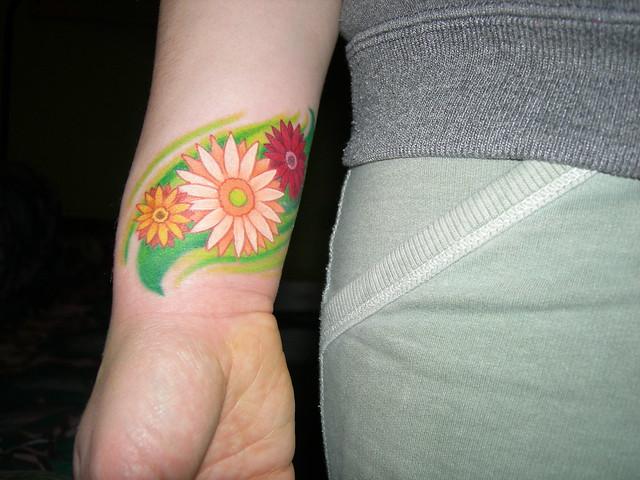 gerbera daisies tattoo
