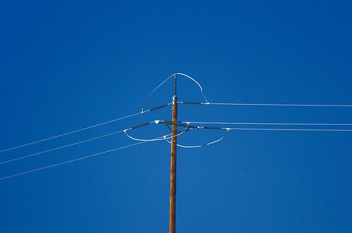 Blue Sky and Power Line
