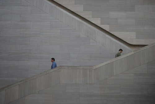 Stairs, East Building, National Gallery of Art, Washington DC