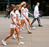 Urban babes on a mission (pastamaster39) Tags: street girls urban white sexy london beautiful walking march women legs wind models oldman angels babes mission tight brunettes fit leggy blonds stride meninpants