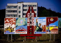 Propaganda North Korea (Eric Lafforgue) Tags: pictures travel del photo war asia republic picture korea il kimjongil korean socialist asie coree norte northkorea nk ideology axisofevil dictatorship  eastasia sung  corea dprk  coreadelnorte stalinist propganda juche kimilsung northkorean nordkorea 8382 lafforgue kimjungil  democraticpeoplesrepublicofkorea  ericlafforgue   koreanpeninsula coredunord  coreadelnord   coreedusud dpkr northcorea juchesocialistrepublic eastasiaasie coreedunord rdpc koreankim jongilkim peninsulajuche  stalinistdictatorship jucheideology insidenorthkorea  rpdc   demokratischevolksrepublik coriadonorte  kimjongun coreiadonorte