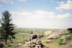 View from Little Round Top over Gettysburg Bat...