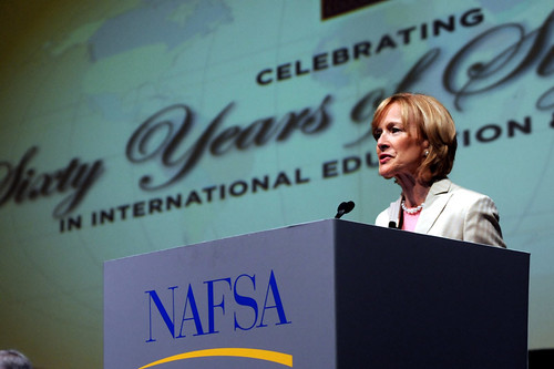 Judy Woodruff at Wednesday plenary