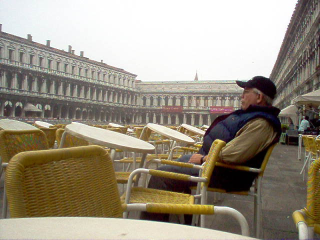 Europe 2005 Alone in St. Mark's Square