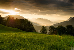 golden morning light (gregor H) Tags: schellenberg liechtenstein österreich austria vorarlberg sunrise spectacle alp goldenmorninglight chapeau bratanesque bravo morningspirit landscape nature backlight gettyimages frastanz