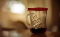 coffee cup (dogwelder) Tags: california film kitchen glass drink coffeecup may zurbulon6 2009 50mmprime olympusom4ti zurbulon
