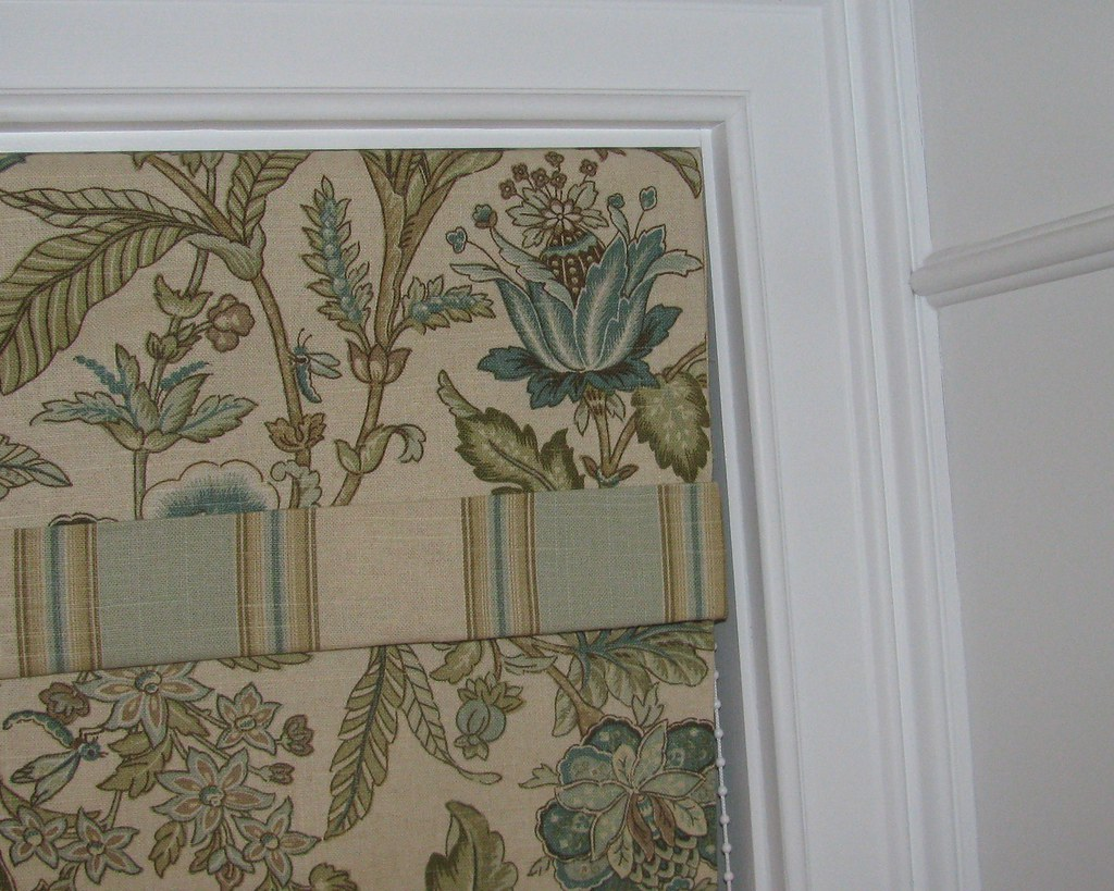 Classic Roman Shade with Banded Valance