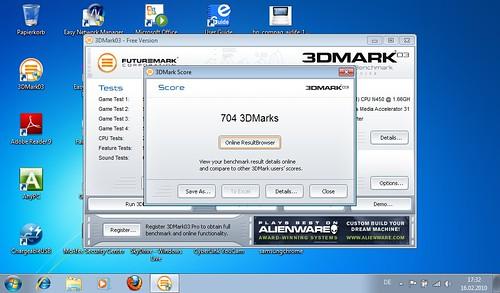 Samsung N150 3DMark03 Benchmark