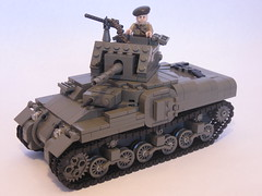 "Canadian Ram Tank Mk.II (final version) (""Rumrunner"") Tags: army gun tank lego wwii machine canadian prototype ww2 ram armour worldwar2 mkii allies brickarms m1919"