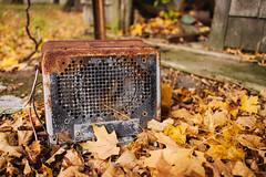 Abandoned Farm: Speaker (davelawrence8) Tags: autumn usa fall abandoned mi rural farm orchard agriculture albion 2013 vsco rurex2013abandonedagriculturealbionautumnfallfarmorchardalbionmiusa