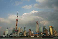 Shanghai Pudong - view from the Promenade (Pawel Boguslawski) Tags: china sky clouds skyscraper canon asia shanghai pearl orient pudong 400d cityskip scenicsnotjustlandscapes