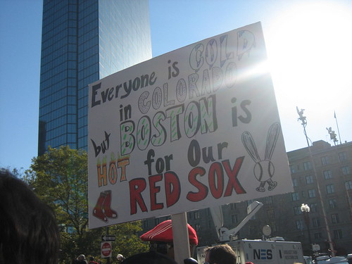 Everyone is Cold in Colorado but Boston is HOT for our Red Sox!