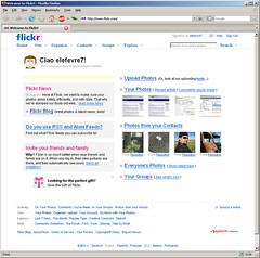Flickr configured to be in English