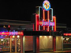 Diner (PLCjr) Tags: clock rain sign silver virginia neon diner retro