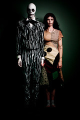 self-portrait as Jack & Sally from the Nightmare Before Christmas (Jesse Draper) Tags: christmas eve white holiday black halloween up jack death skull tim costume october dress dream makeup sally henry homemade nightmare timburton burton nightmarebeforechristmas skellington nmbc selick jessedraper hollowseve burotn