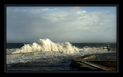 Stormy seas (jonboy24/7) Tags: sea weather pier surf wave stormy spray rough soe seaham lightstylus