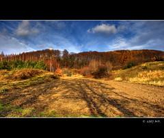 The Lipowiec Castle (Mariusz Petelicki) Tags: autumn castle clouds hdr jesie zamek chmury lipowiec canon400d great123