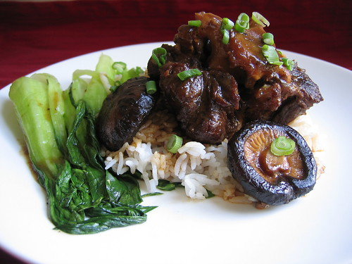 Chinese Braised Oxtail Stew with Shiitake Mushrooms