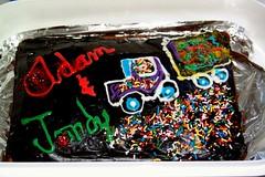 Adam & Jordy Cake, Dec.  2007 (West End) Tags: pathetic