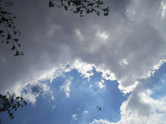 GETAWAY! (Ed Schramm) Tags: blue portrait sky clouds plane goodbye aero