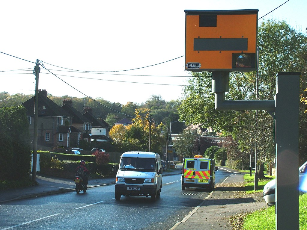 Mobile speed camera mobile, Sawpit Hill, Holmer Green