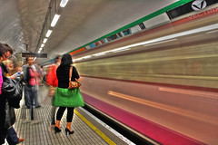 The Tube (HDR) (lolstaticx) Tags: longexposure light london metro tube hdr parallellines ef1740f4l longaexposicao