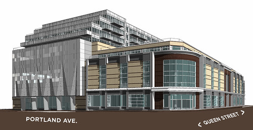 Proposed RioCan building at Queen West and Portland